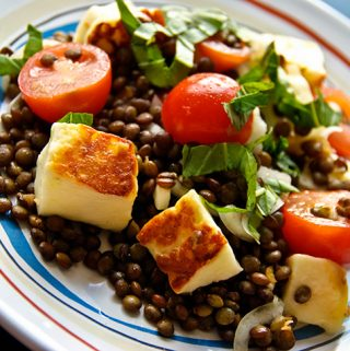 French Puy Lentil Salad with Halloumi Recipe